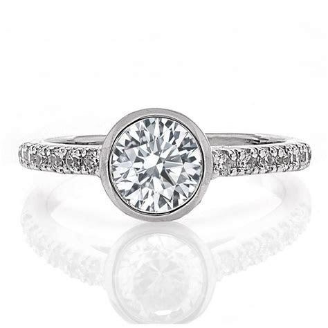 Bezel set engagement ring   Boston Jewelers   Freedman
