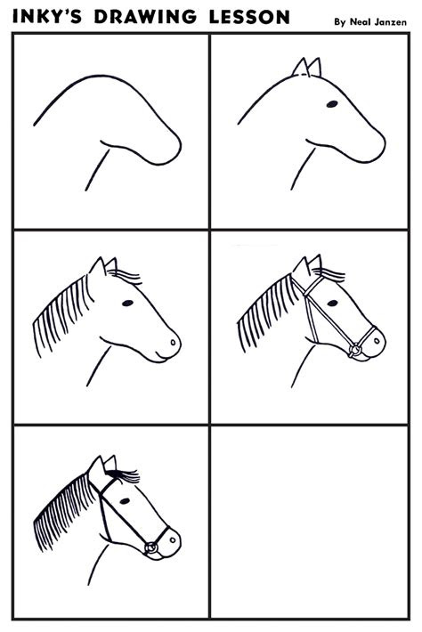 inkys drawing lesson horse art lessons kindergarten