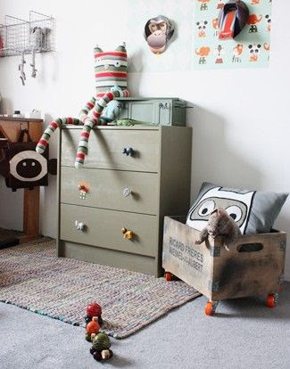 Ikea Rast with critter knobs