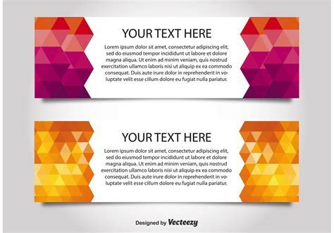 Modern Style Web Banner Templates   Download Free Vector
