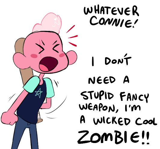 Connie isn't the single unique human crystal gem anymore She's mostly just scared Lars is gonna take her best friend status with Steven