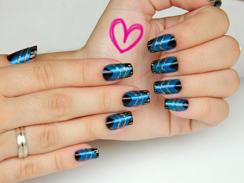 nail art juliana leite de unhas feitas azulcrination decoradas 009