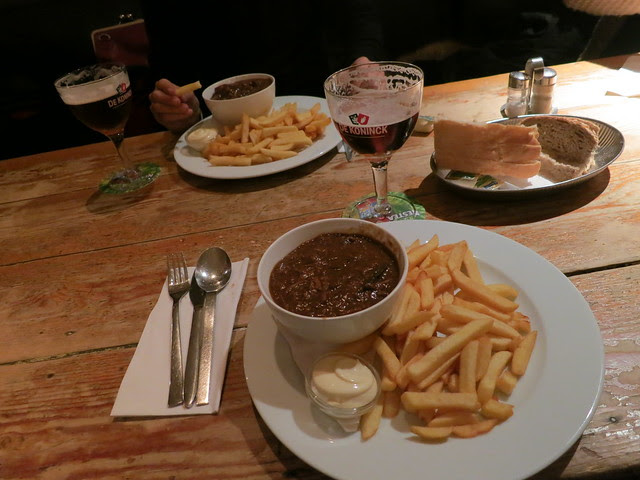 Beef stew beer and frites