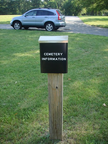 Cemetery Information Box by midgefrazel