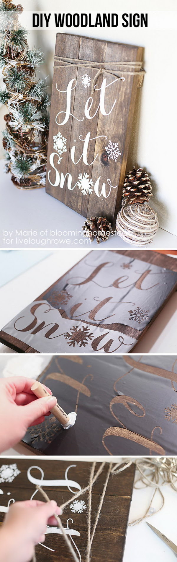25 DIY Rustic Christmas Decoration Ideas amp; Tutorials  IdeaStand