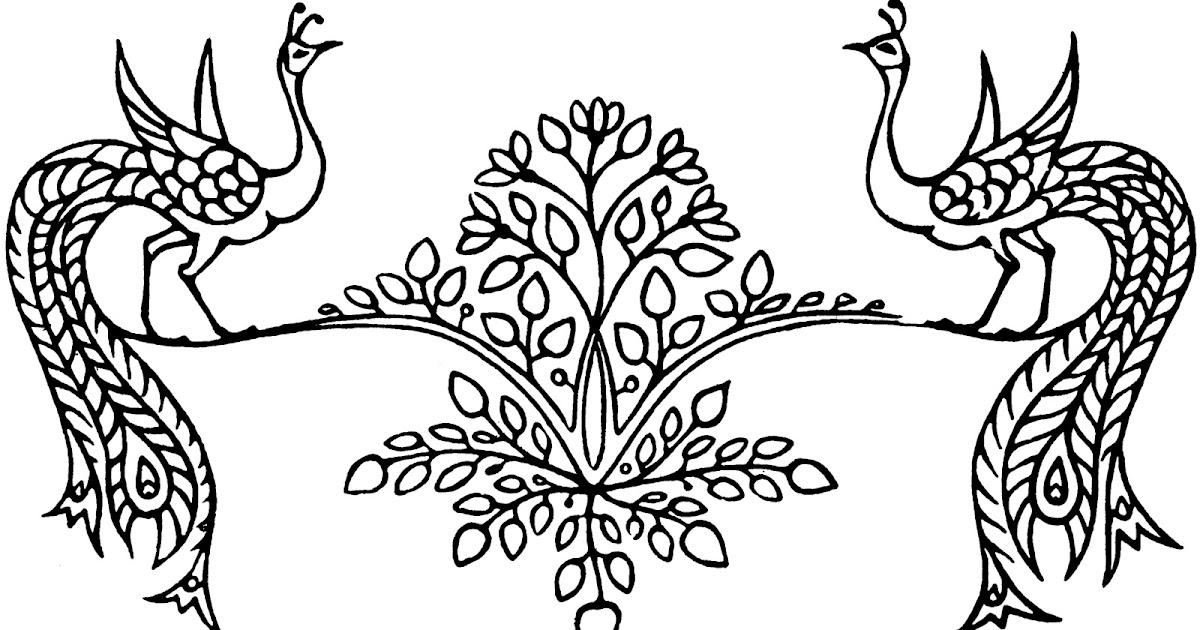 58 Gambar Ragam Hias Fauna Hitam Putih Gokil