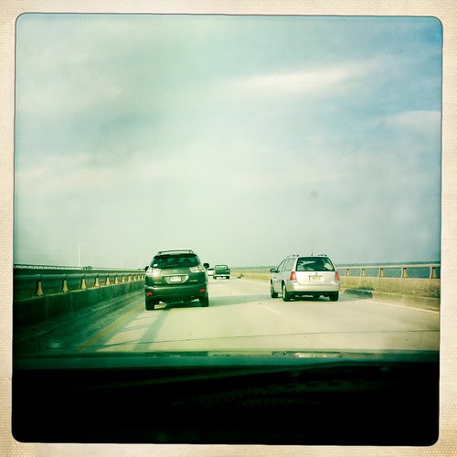 crossing over the bridge to OBX