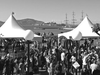 Ghirardelli Wine Festival - View of Alcatraz