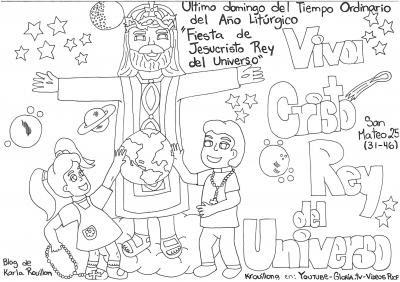 Colorea Fiesta De Jesucristo Rey Del Universo Blog De Karla