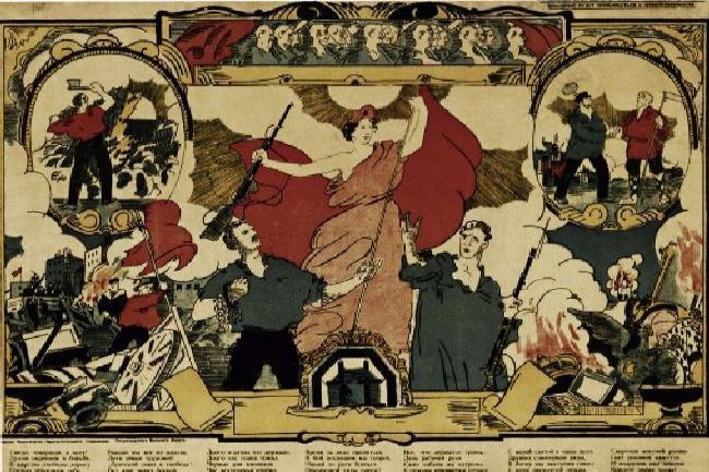 Πολιτιστική «έφοδος στους ουρανούς». Η Επανάσταση καταπολέμησε τον αναλφαβητισμό, μερίμνησε για τη γενικότερη πολιτιστική εξύψωση του ρωσικού λαού και μέσω των έργων τέχνης