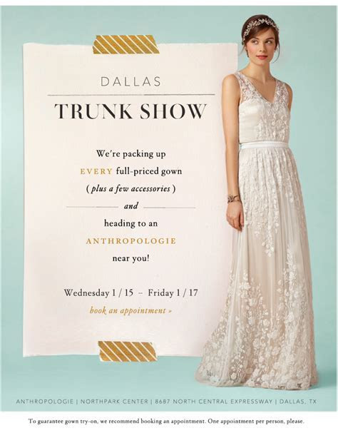 BHLDN Trunk Show at Dallas Northpark Center   Hitched