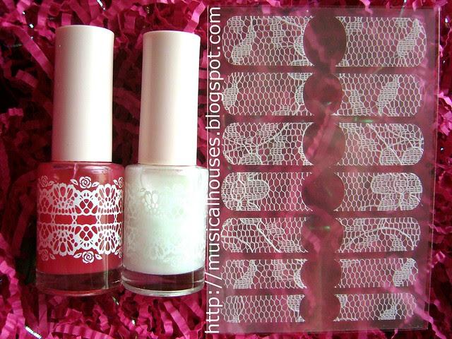 Etude House Rose Flowering Nails Set 1
