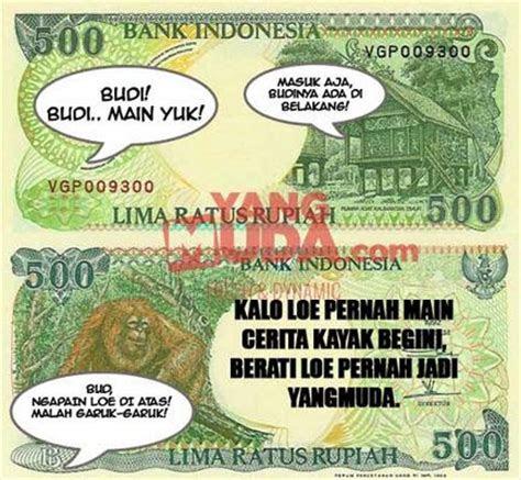 meme lucu gambar uang  dijamin bikin lupa hutang