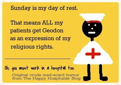 Giving Geodon on Sundays an expression of religious rights