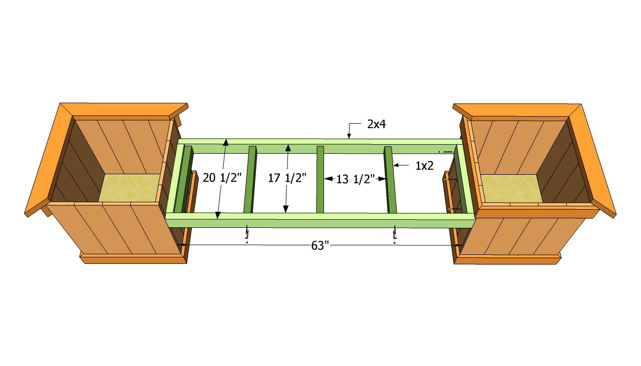 Planter Bench Plans   Free Outdoor Plans - DIY Shed ...