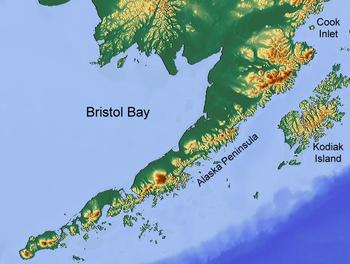 Map of Bristol Bay, Alaska