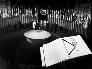 Carta Naţiunilor Unite - ceremonia semnării (Imagine: Wikipedia)