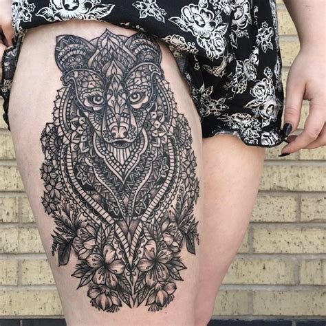 mandala tattoos thigh girls