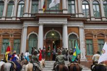 Extinção da Chama Crioula no Paço Municipal ocorreu neste domingo, 20