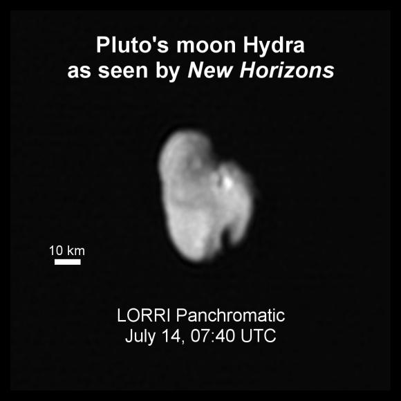 Hidra vista por LORRI (NASA/JHUAPL/SwRI).
