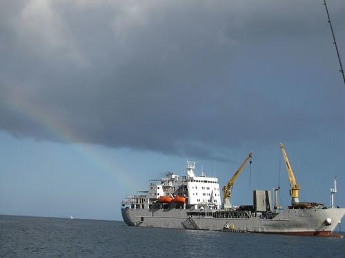 Aranui 3, supply ship, Vaitahu