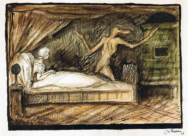 Alfred Kubin - The Ghost In The Bedroom