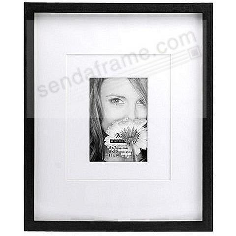 Ebony Black Frame With Coordinated Multi Layer Mat 5x7 8x10