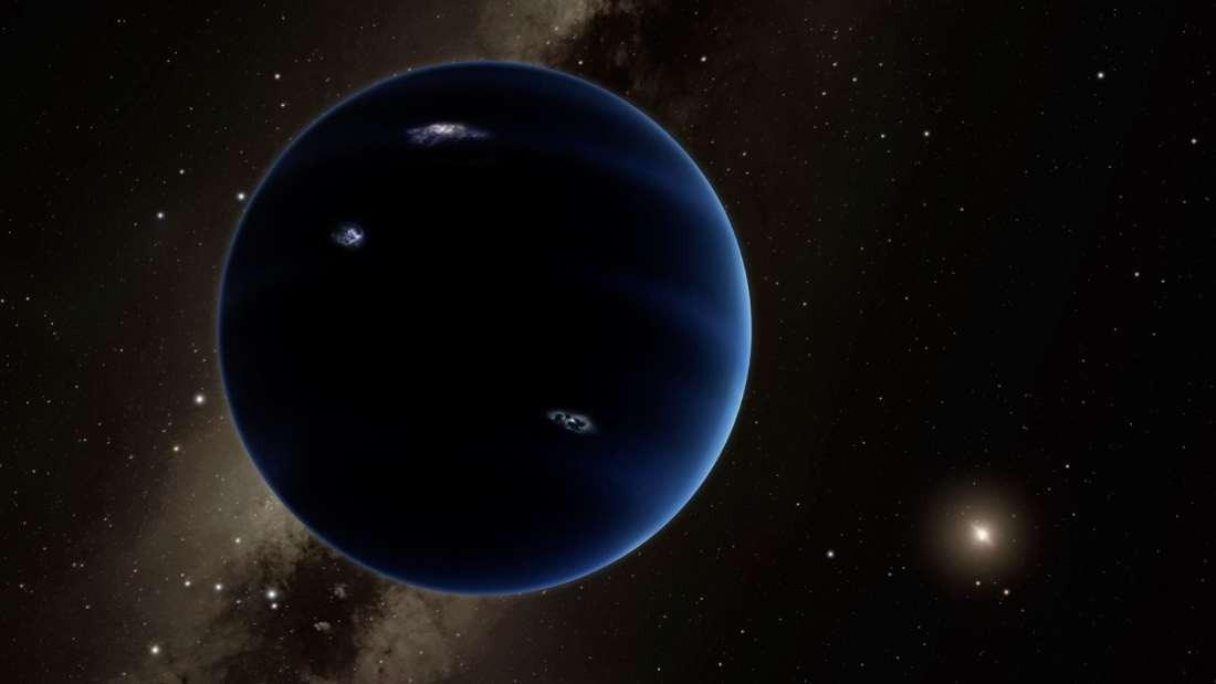 Concepção artística do Planeta Nove: mundo teórico seria pelo menos 10 vezes maior que a Terra (Foto: reprodução)