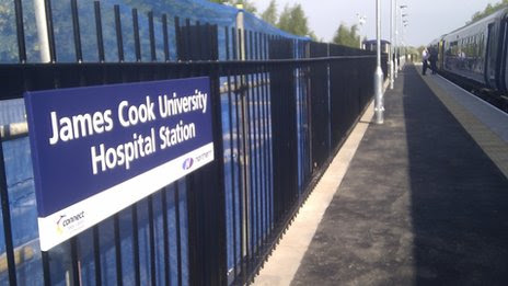 James Cook Hospital station