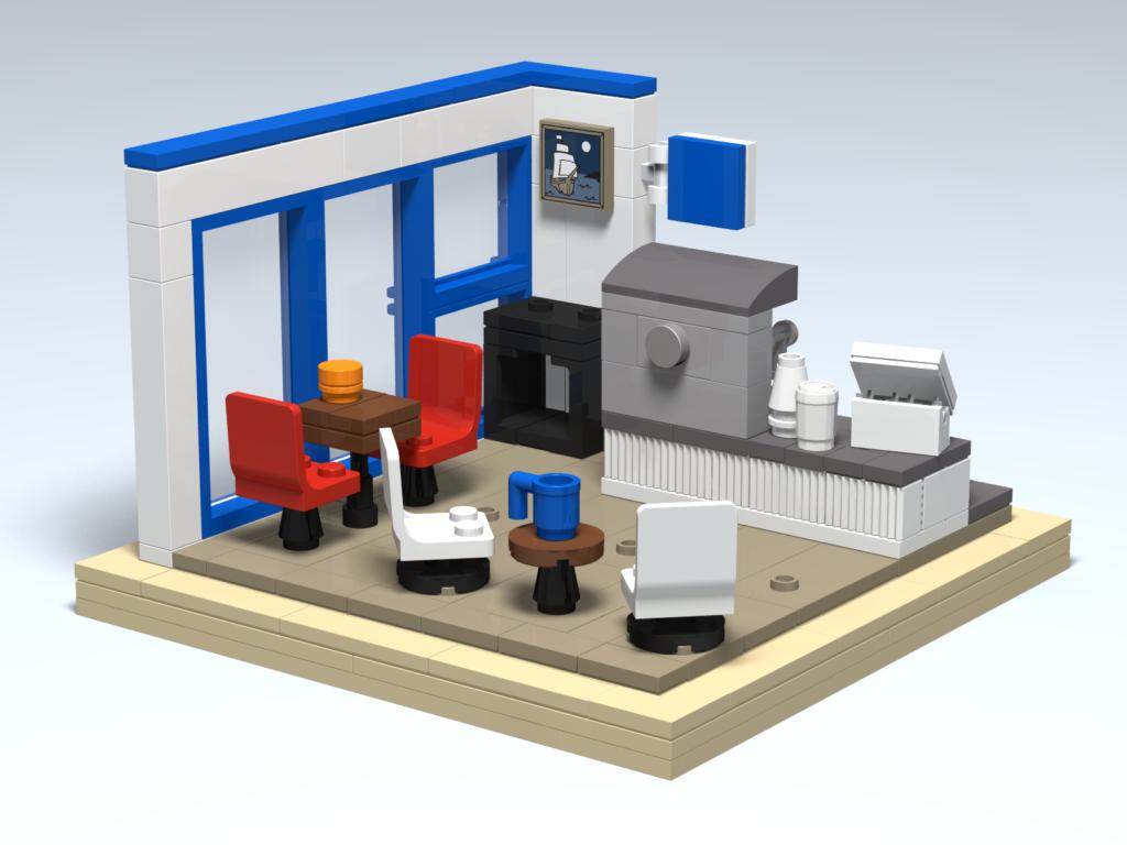 Blue Horse Beach Cafe Custom Lego Design Door County Bricks