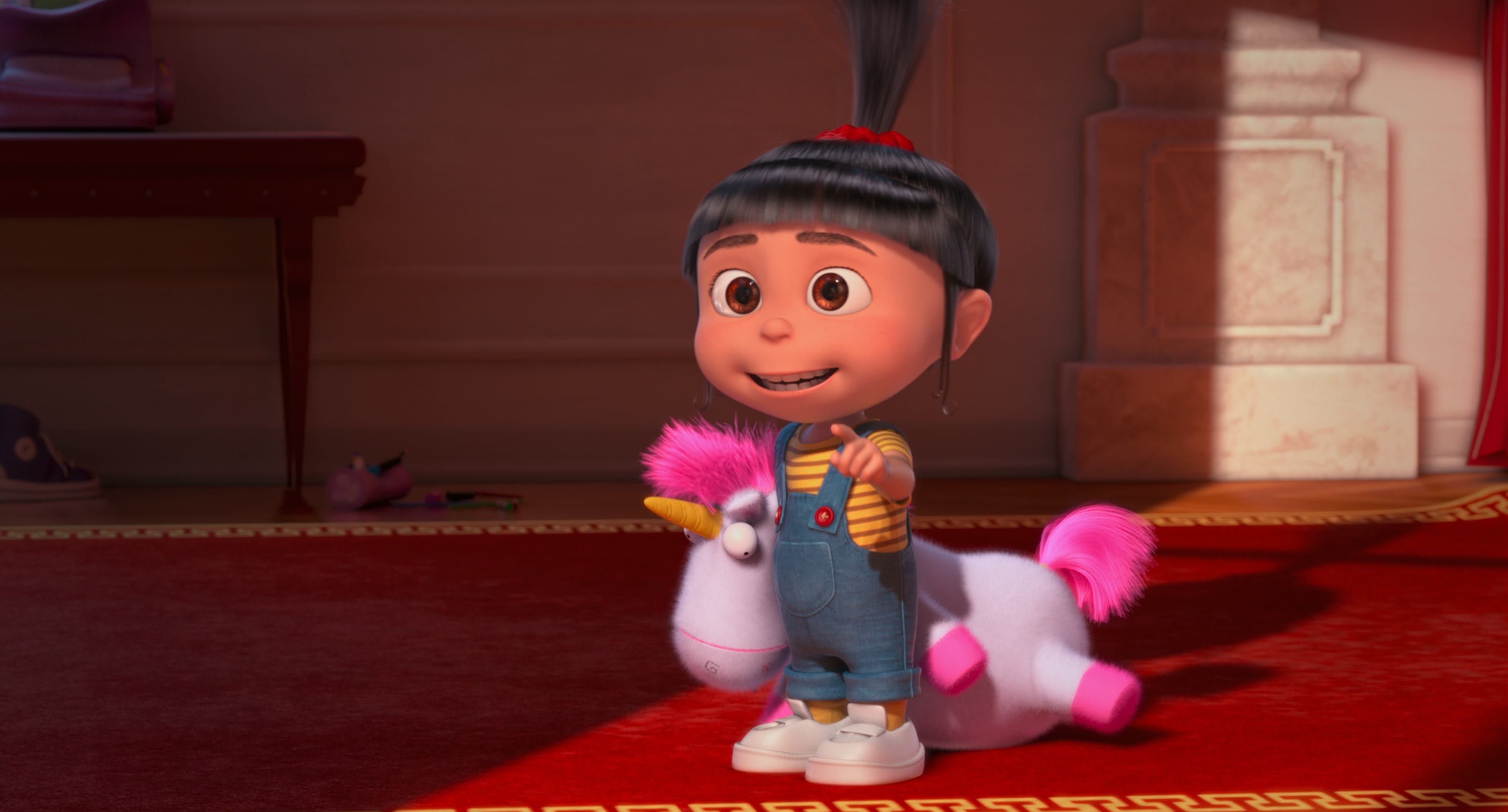 Agnes con unicornio.