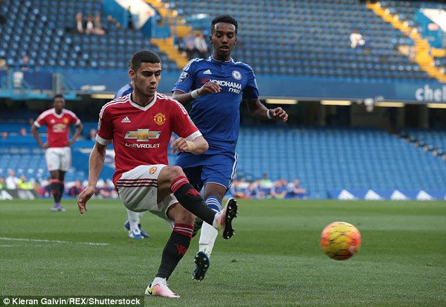 Brazilian Andreas Pereira was another United player seeking to make an impression