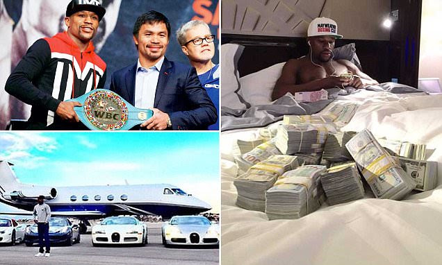 Floyd Mayweather, the thug with two jets and 100 cars