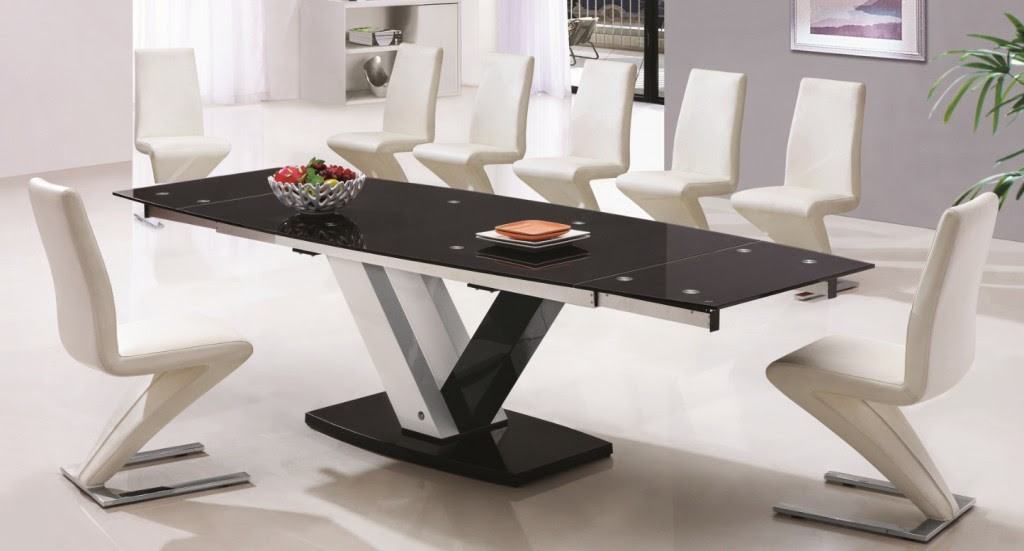 Glass Dining Tables To Seat 10 Modern Kitchen Furniture Photos Ideas Reviews