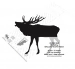 Elk Calling Silhouette Yard Art Woodworking Pattern - fee plans from WoodworkersWorkshop® Online Store - elk,animals,wildlife,hunters,hunting,silhouettes,yard art,yard art,painting wood crafts,scrollsawing patterns,drawings,plywood,plywoodworking plans,woodworkers projects,workshop blueprints