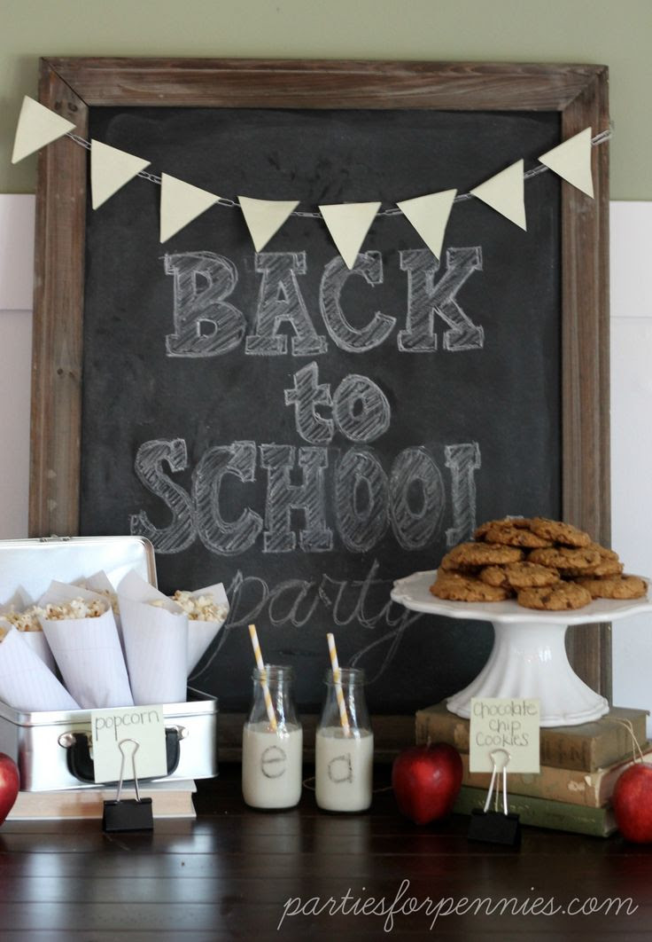 Back To School Party by PartiesforPennies.com #kidsparty #schoolsupplies