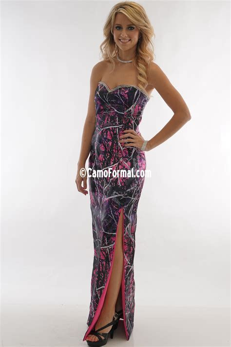 Muddy Girl camo slim dress fully lined Camouflage Prom