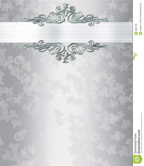 Silver Wedding Invitation Templates   Wedding invitation