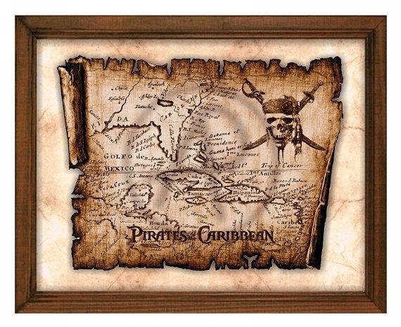 Pirate Of Rolls Parchment Treasure Map Artold Map