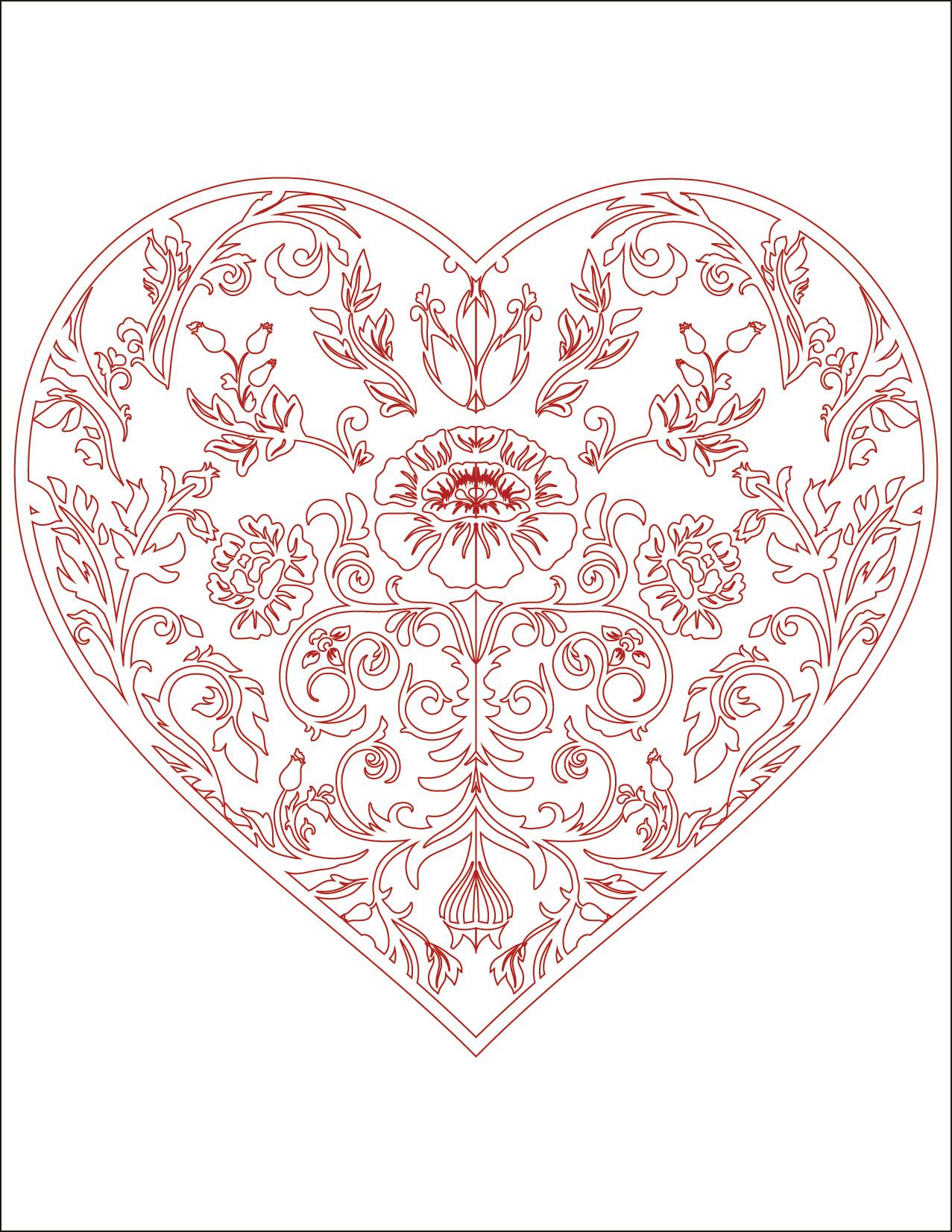 Coeur Coloriage Colorier Les Enfants Marnfozinecom