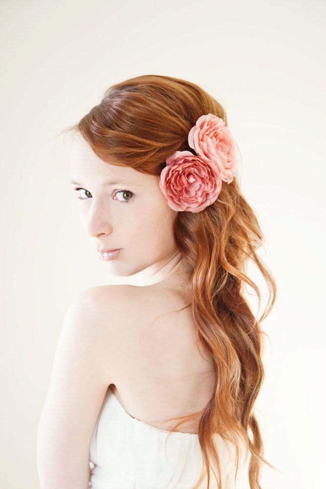 Dusty Roses - Bridal Hair piece