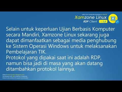 Menggunakan Xamzone Linux Additional Features / Custom Edition untuk Pembelajaran TIK berbasis Windows melalui Remote Desktop