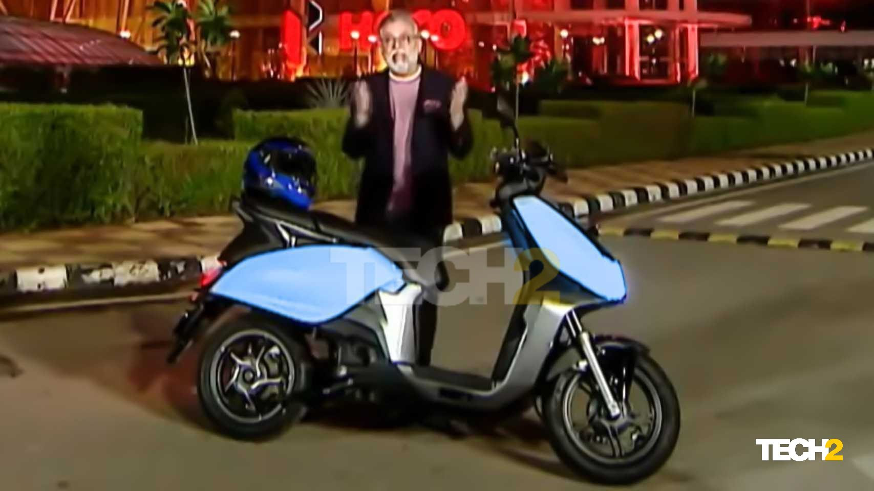 Hero MotoCorp's first electric scooter is expected to follow a fixed charging system. Image: Hero MotoCorp