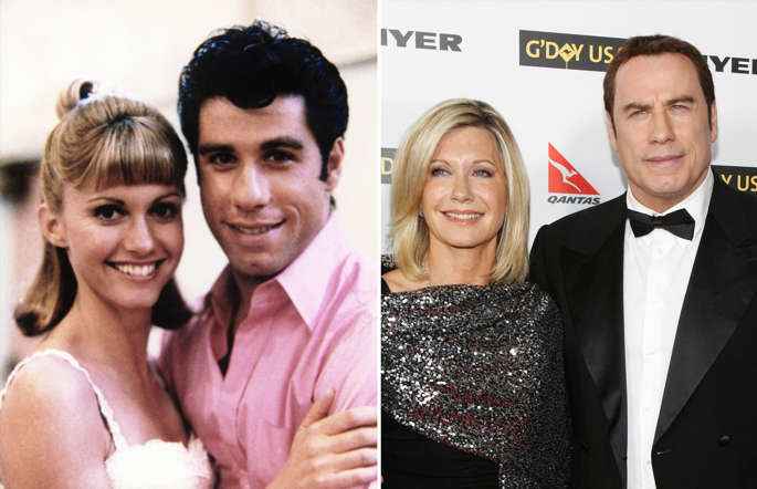 GREASE, Olivia Newton-John, John Travolta; Actor John Travolta and actress Olivia Newton-John pose at the G'Day USA 2010 Los Angeles gala in Hollywood, California January 16, 2010. The evening honors high profile individuals for their achievements and for excellence in promoting Australia in the United States.