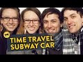 Twins Prank People On Train With Time Travel Gag - Video