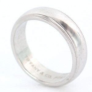 estate designer tiffany  platinum mens wedding band