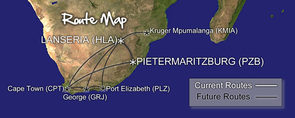 Fly Go-Air's Intended Route Map