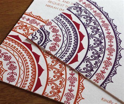 South Asian Wedding Trends: Mandalas   letterpress wedding