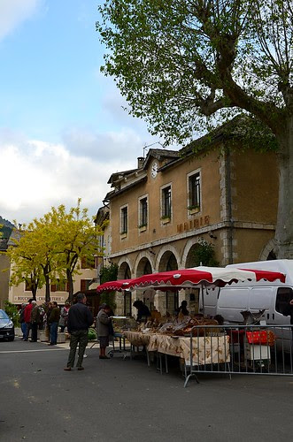 Ispagnac Saturday market