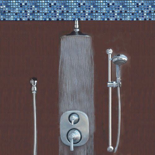 Atlantis 14 Brushed Nickel Rain Shower System Includes Moen Valve